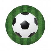 Набор бумажных тарелок Футбол, 6 шт, d=180 мм