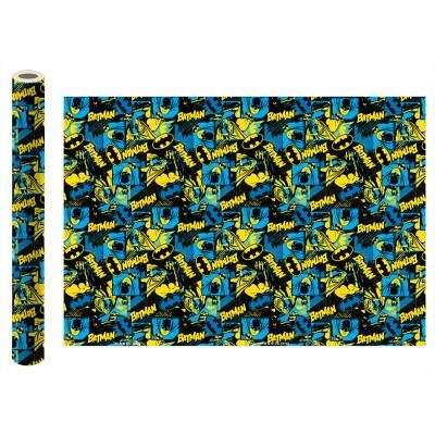 Batman. Упаковочная бумага (синяя), 700*1000 мм, 2 шт в рулоне
